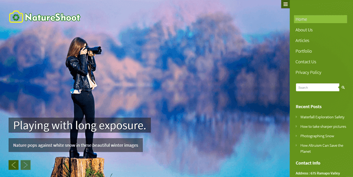 natureshoot-wordpress-theme