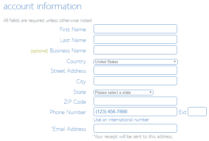 account-details-register-bluehost